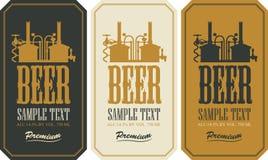 Insieme di etichetta della birra Fotografie Stock Libere da Diritti