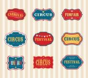 Insieme di etichette d'annata del circo Fotografia Stock