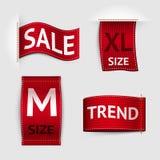 Insieme di etichette dell'abbigliamento Immagine Stock Libera da Diritti