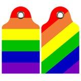 Insieme di etichette dell'arcobaleno Immagini Stock