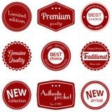 Insieme di etichette di affari Immagine Stock