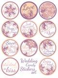 Insieme di etichette personale dell'autoadesivo di Candy royalty illustrazione gratis