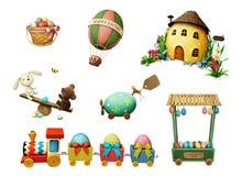 Insieme di festa di Pasqua illustrazione di stock