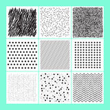 Insieme di fondo moderno variopinto astratto geometrico Fotografie Stock