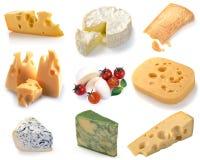 Insieme di formaggio Fotografie Stock