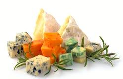 Insieme di formaggio con la muffa ed il camembert Immagini Stock Libere da Diritti