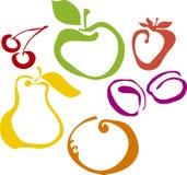 Insieme di Fruite Immagini Stock Libere da Diritti