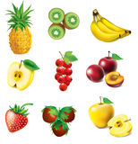 Insieme di frutta Fotografie Stock Libere da Diritti
