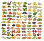 Insieme di frutta e della verdura Fotografie Stock