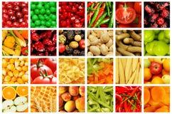 Insieme di frutta e delle verdure Fotografia Stock