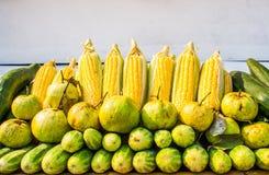 Insieme di frutta e delle verdure Immagini Stock Libere da Diritti