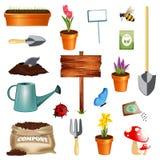 Insieme di giardinaggio Fotografia Stock