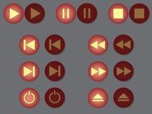 Insieme di gioco, estremità di pausa altri bottoni. Fotografia Stock Libera da Diritti