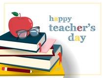 Insieme di giorno degli insegnanti illustrazione vettoriale
