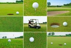 Insieme di golf Fotografia Stock Libera da Diritti