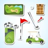 Insieme di golf Immagini Stock