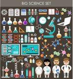 Insieme di grande scienza Infographics Immagine Stock Libera da Diritti