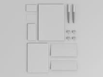 Insieme di Gray Branding Mockup Modello di affari fotografia stock