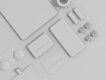 Insieme di Gray Branding Mockup Modello di affari immagini stock