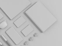 Insieme di Gray Branding Mockup Modello di affari illustrazione di stock