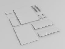 Insieme di Gray Branding Mockup Modello di affari immagini stock libere da diritti