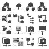 Insieme di Gray Folder Tree Icons di vettore illustrazione vettoriale