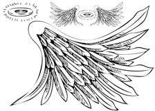 Insieme di guidacarta dell'ala di angelo illustrazione di stock