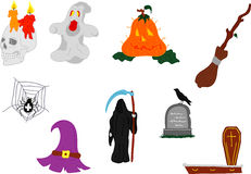 Insieme di Halloween Immagini Stock Libere da Diritti