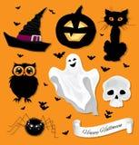 Insieme di Halloween Fotografia Stock Libera da Diritti