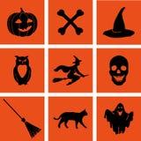 Insieme di Halloween ENV, JPG Immagine Stock Libera da Diritti