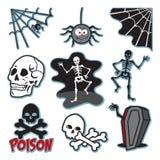 Insieme di immagine di scheletro dell'icona dell'illustrazione Fotografia Stock