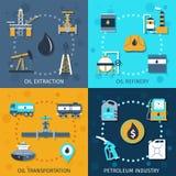 Insieme di industria petrolifera Immagini Stock