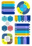 Insieme di Infographic dei grafici di affari illustrazione di stock