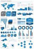 Insieme di Infographics Fotografia Stock Libera da Diritti