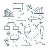 Insieme di Infographics Illustrazione di Stock