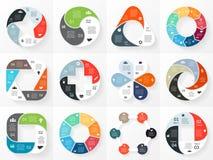 Insieme di infographics delle frecce del cerchio di vettore mascherina royalty illustrazione gratis