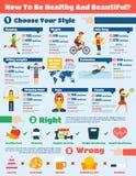 Insieme di Infographics di forma fisica Immagine Stock