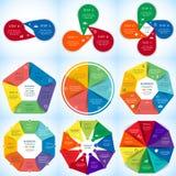 Insieme di infographics di vettore Fotografie Stock