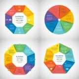 Insieme di infographics di vettore Fotografie Stock Libere da Diritti