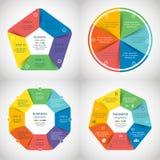 Insieme di infographics di vettore Fotografia Stock