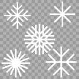 Insieme di inverno del fiocco di neve royalty illustrazione gratis