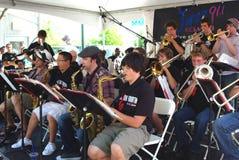 Insieme di jazz della High School del Berkeley Immagini Stock Libere da Diritti