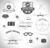 Insieme di Lables dell'aeroplano Illustrazione di vettore Illustrazione di Stock