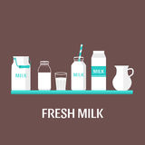 Insieme di latte Immagine Stock Libera da Diritti