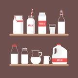 Insieme di latte Fotografia Stock Libera da Diritti