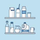Insieme di latte Immagini Stock Libere da Diritti