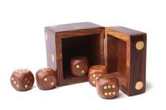 Insieme di legno dei dadi Fotografie Stock