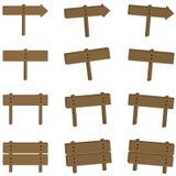 Insieme di legno del segno Immagine Stock
