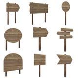 Insieme di legno della scheda Fotografia Stock