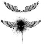 Insieme di lerciume delle ali Immagini Stock